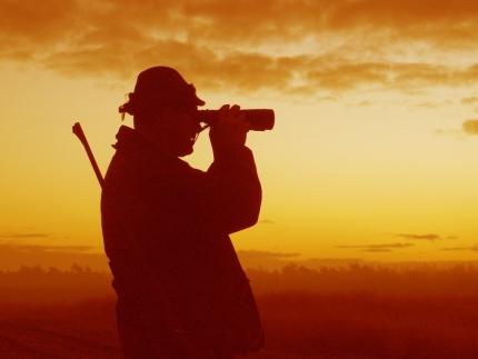 De jager in het veld - Foto: ©Louis Fraanje