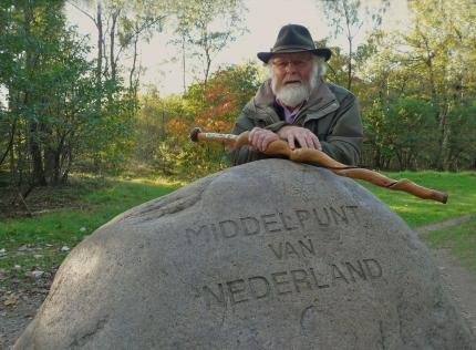 Louis Fraanje bij Het Middelpunt van Nederland - Foto: ©Fransien Fraanje