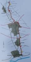 De wildwal op een moderne kaart.Klik om te vergroten