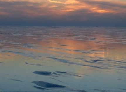 bevroren veluwemeer