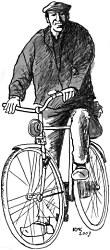 Jan op de fiets
