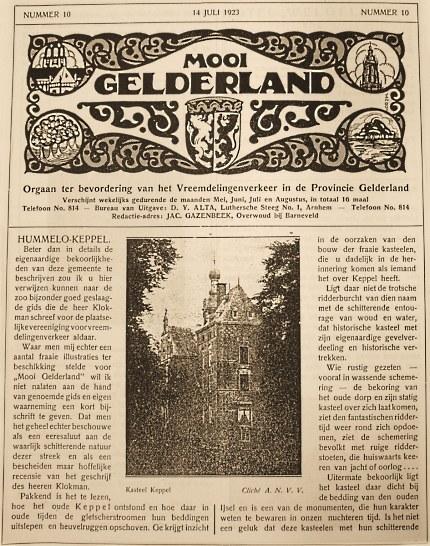 Mooi Gelderland no.10 - 14 juli 1923 (klik om te vergroten)