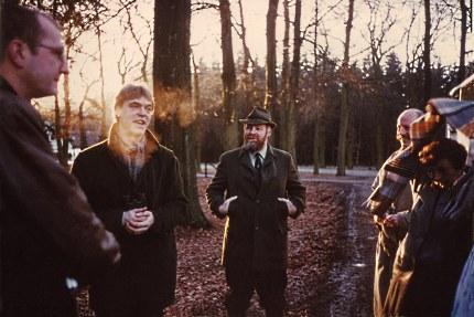Inleiding op de wandeling met links Huub Schuitemaker en rechts Louis Fraanje