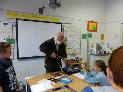 De dag ervoor was meneer Louis Fraanje bij ons op school