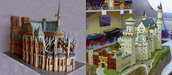 De kathedraal van Reims en slot Neuschwanstein