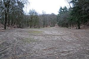 midden in de afgraving