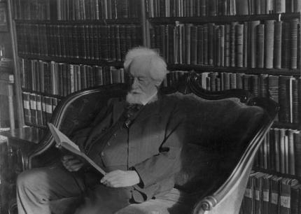 Hugo de Vries in zijn bibliotheek