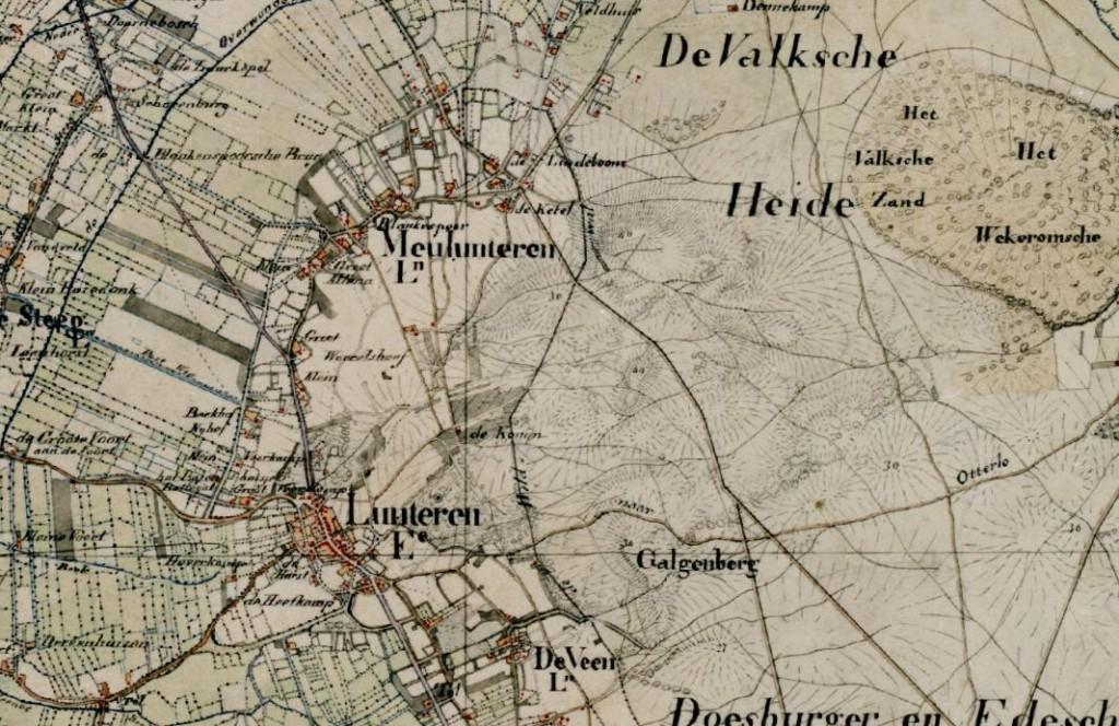 topografische kaart wildwal