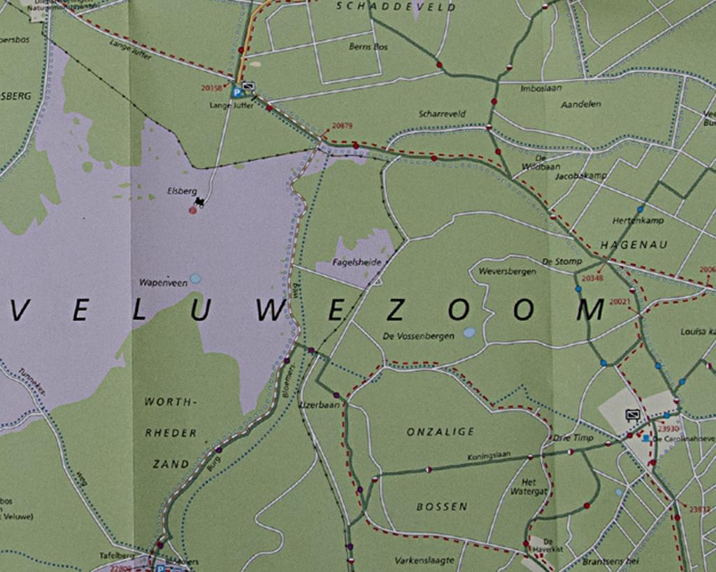 HRT.29  Klemmen kaart VeluwezoomZie Vossenbergen.