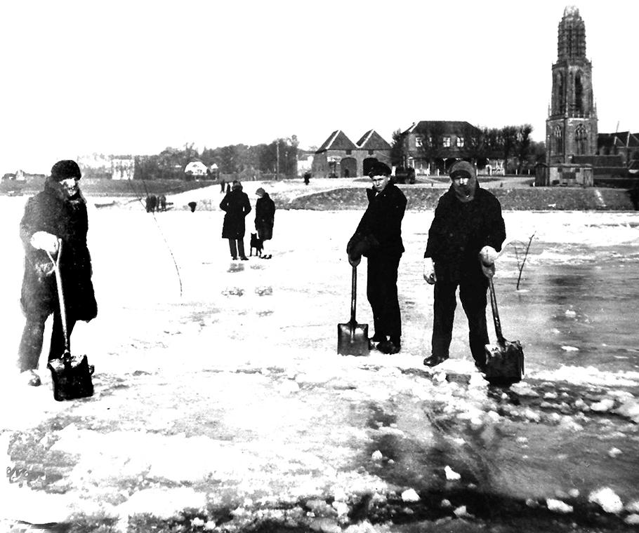 Janus Onink pad bevroren Rijn-b-klein