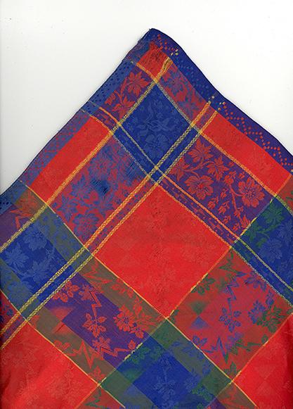 3 - afb. 3 zijden trouwdoek 19de eeuw
