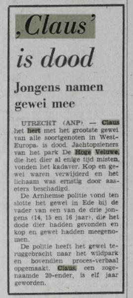 Vrije Volk 25 februari 1970