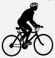 Wil van Zummeren op de fiets
