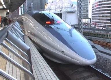 Het nieuwe ontwerp van de hogesnelheidstrein