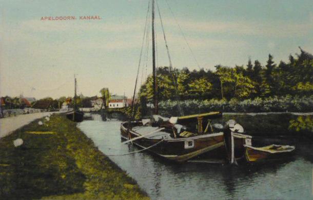 Een oude opname van het Apeldoorns Kanaal in vroeger tijden