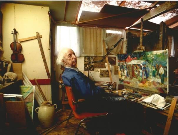 image006De kunstenaar Jaap Hiddink in zijn atelier te Nunspeet - Foto: ©Brand Overeem