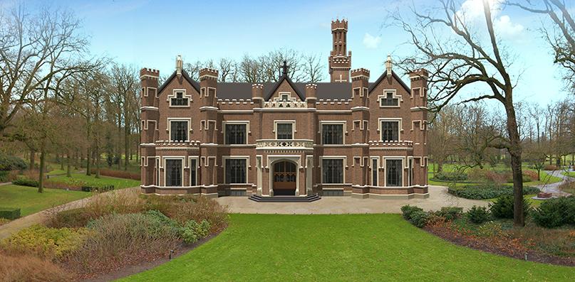 """Het prachtige kasteel """"De Schaffelaar"""" in Barneveld - 3D-Tekening: Jan van Uffelen"""