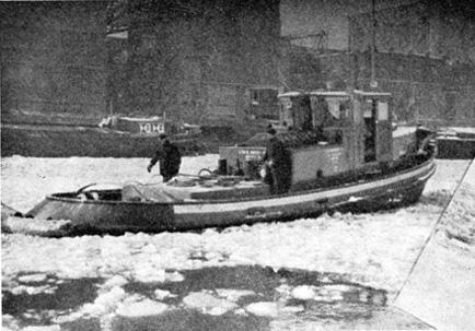 eendracht-5-01Tijdens de strenge winter van 1956 werd de Eendracht 5 ingezet als ijsbreker op de Zaan - Foto: Archief De Eendracht