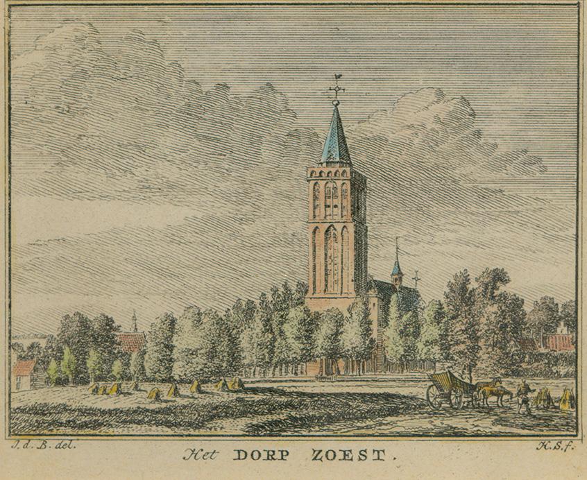 Hervormde kerk in Soest, waarbij in de buurt de Hessenwagens de straatweg moesten kruisen (Collectie Gemeente Archief Soest)