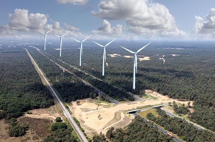 Windmolens op de Veluwe? – Compilatiefoto: ©Jan van Uffelen