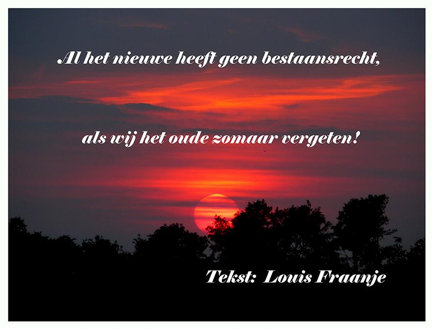 Tekst en zonsondergang - Foto: ©Louis Fraanje