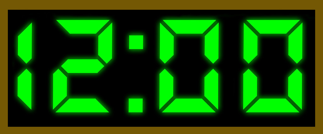 digitale klok 1200 uur