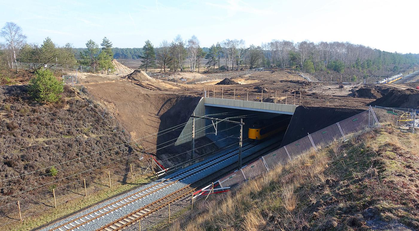 De natuurbrug nadert haar voltooiing - Foto: ©Jan van Uffelen