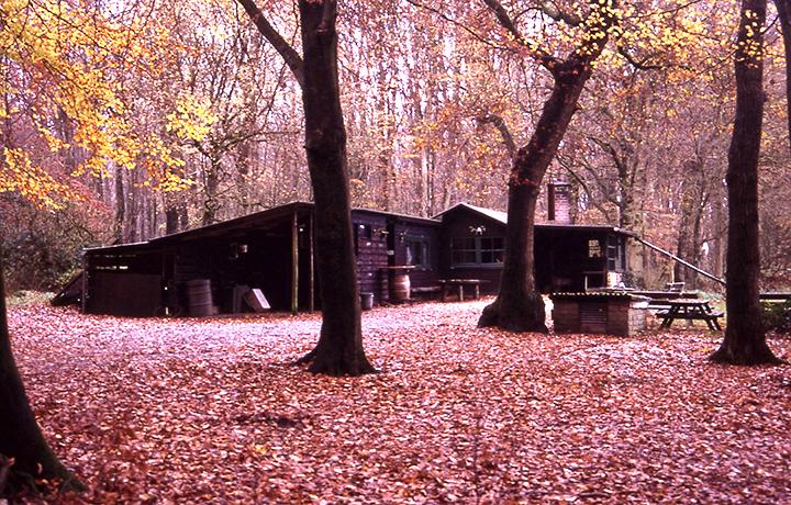 Oude opname van de jachthut in de herfst - Foto: ©Louis Fraanje
