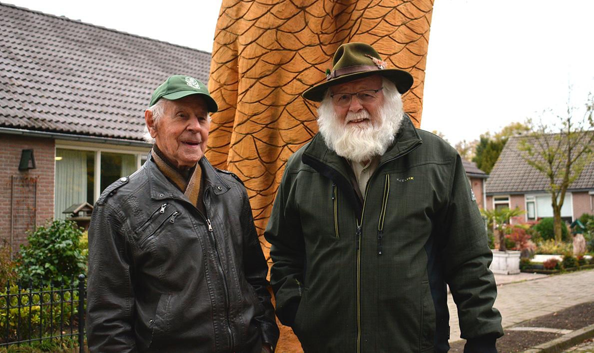 Ted Folsche en Louis Fraanje, twee groene vrienden op de Veluwe - Foto: ©Fransien Fraanje