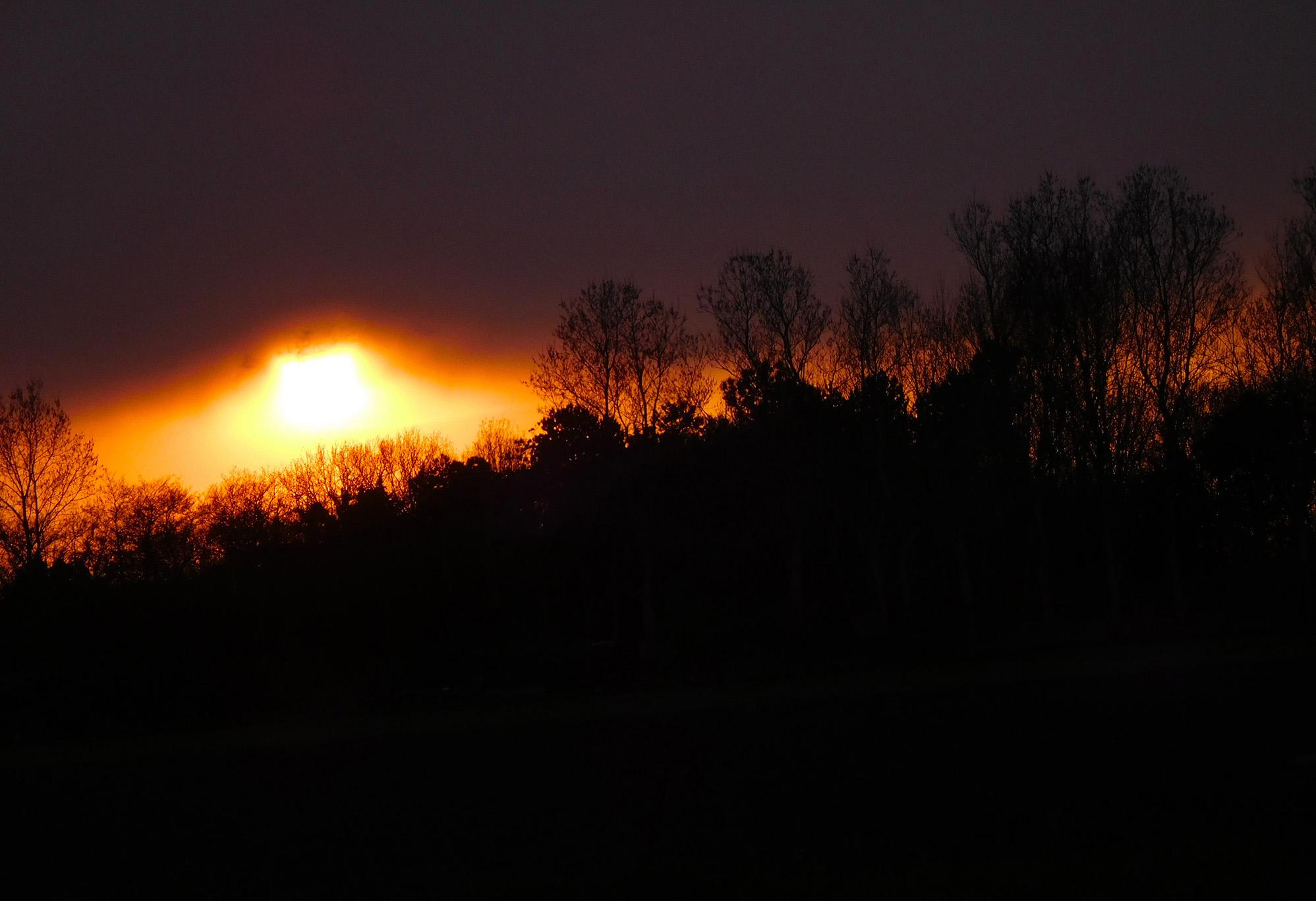 Dan komt de zon nog heel even met volle kracht onder het wolkendek vandaan – Foto: ©Louis Fraanje