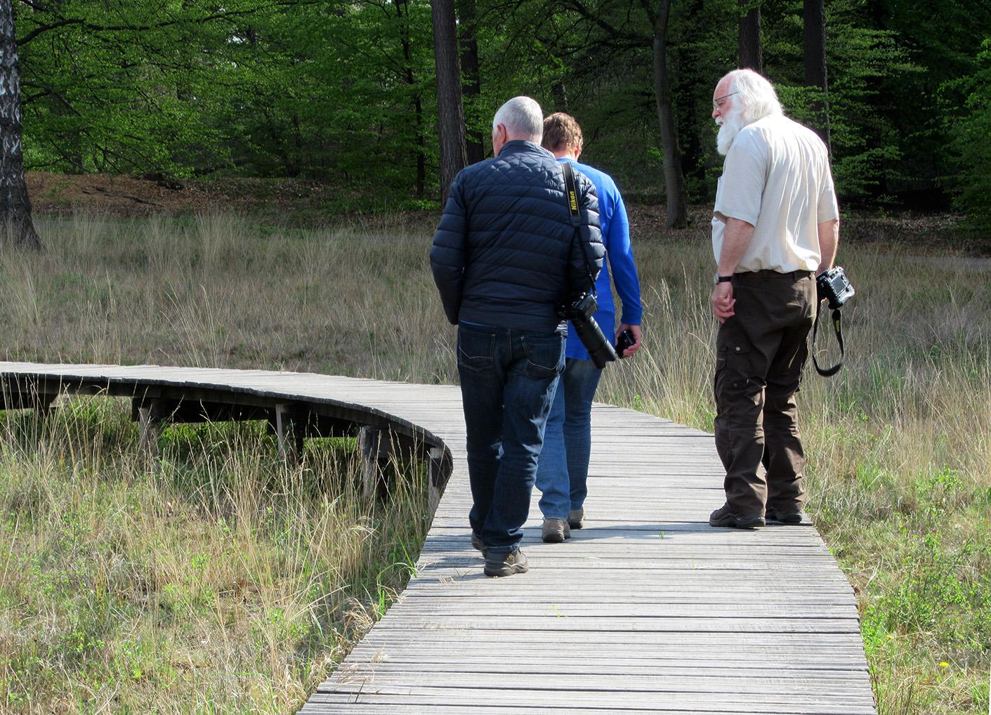 Met Florus en Jannie op zoek naar de Levendbarende hagedisjes – Foto: ©Fransien Fraanje