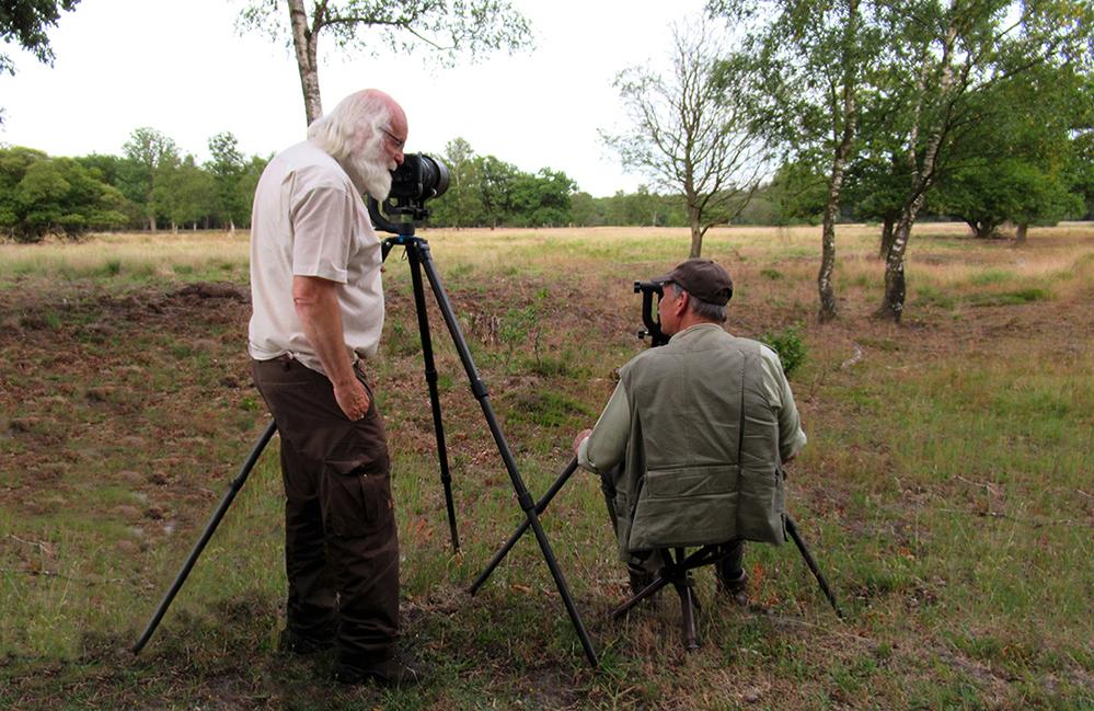 Louis en Ton twee natuurvrienden tijdens hun 'aanzit' op de Hoge Veluwe – Foto: ©Fransien Fraanje