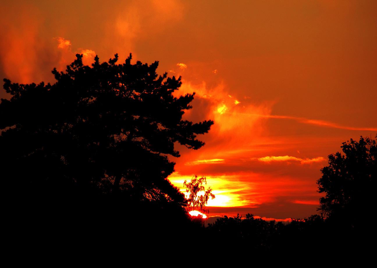 Tenslotte wordt ik getrakteerd op een schitterende zonsondergang – Foto: ©Louis Fraanje