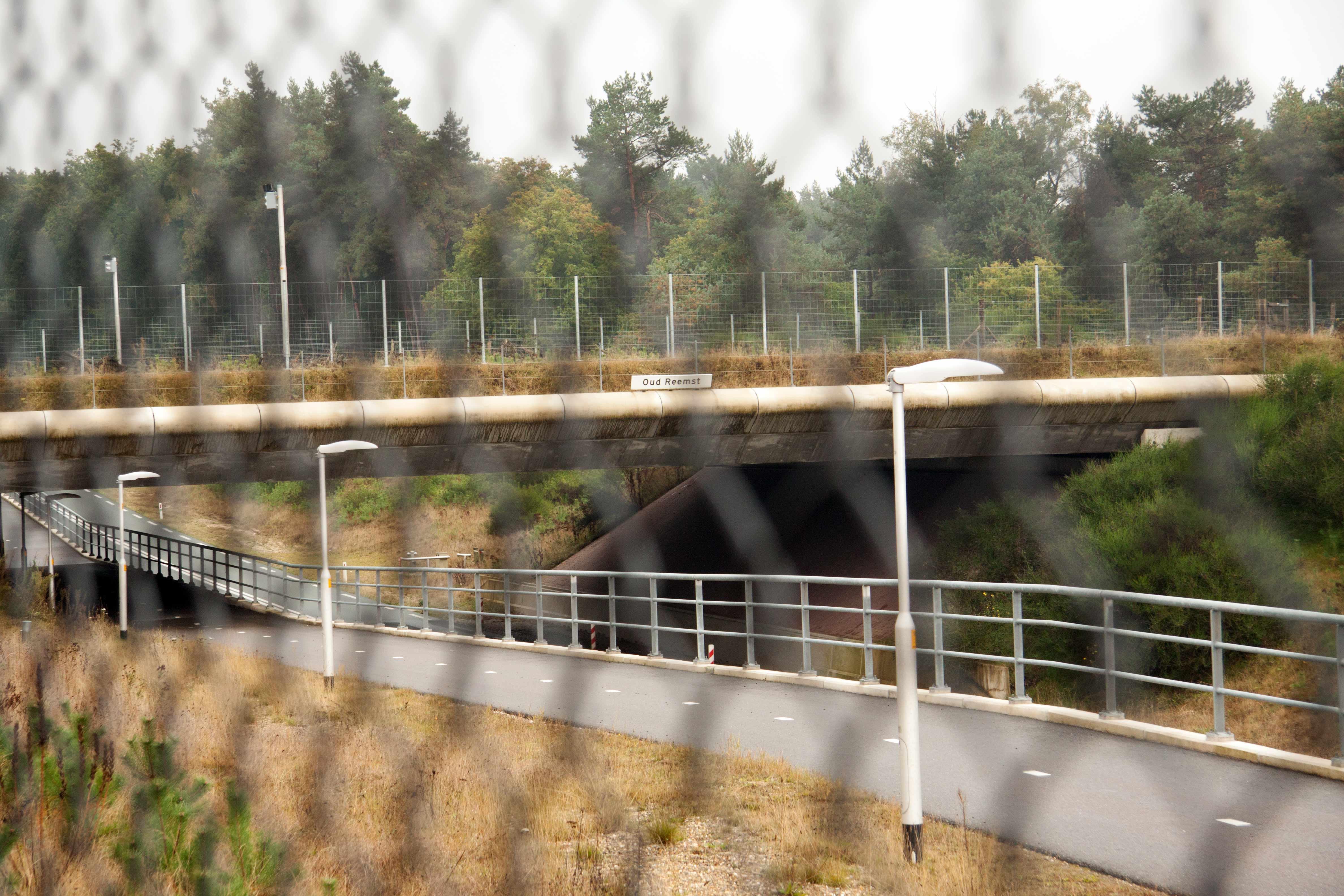 Ecoduct Oud-Reemst, gezien vanuit het Park op 17 oktober 2015 – Foto: ©Yvonne Arentzen