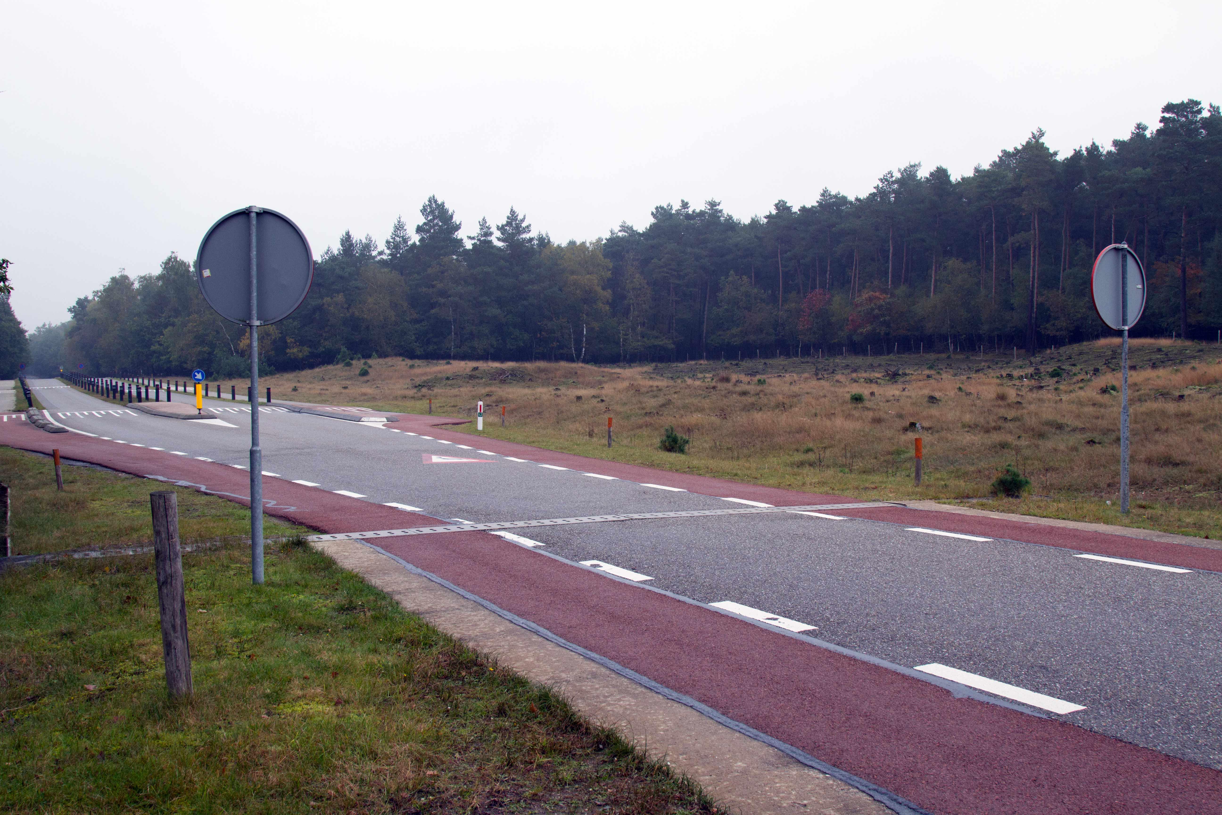 Ook het Deelrwoudgedeelte van Natuurmonumenten heeft een hek en een insprong – Foto: ©Yvonne Arentzen]
