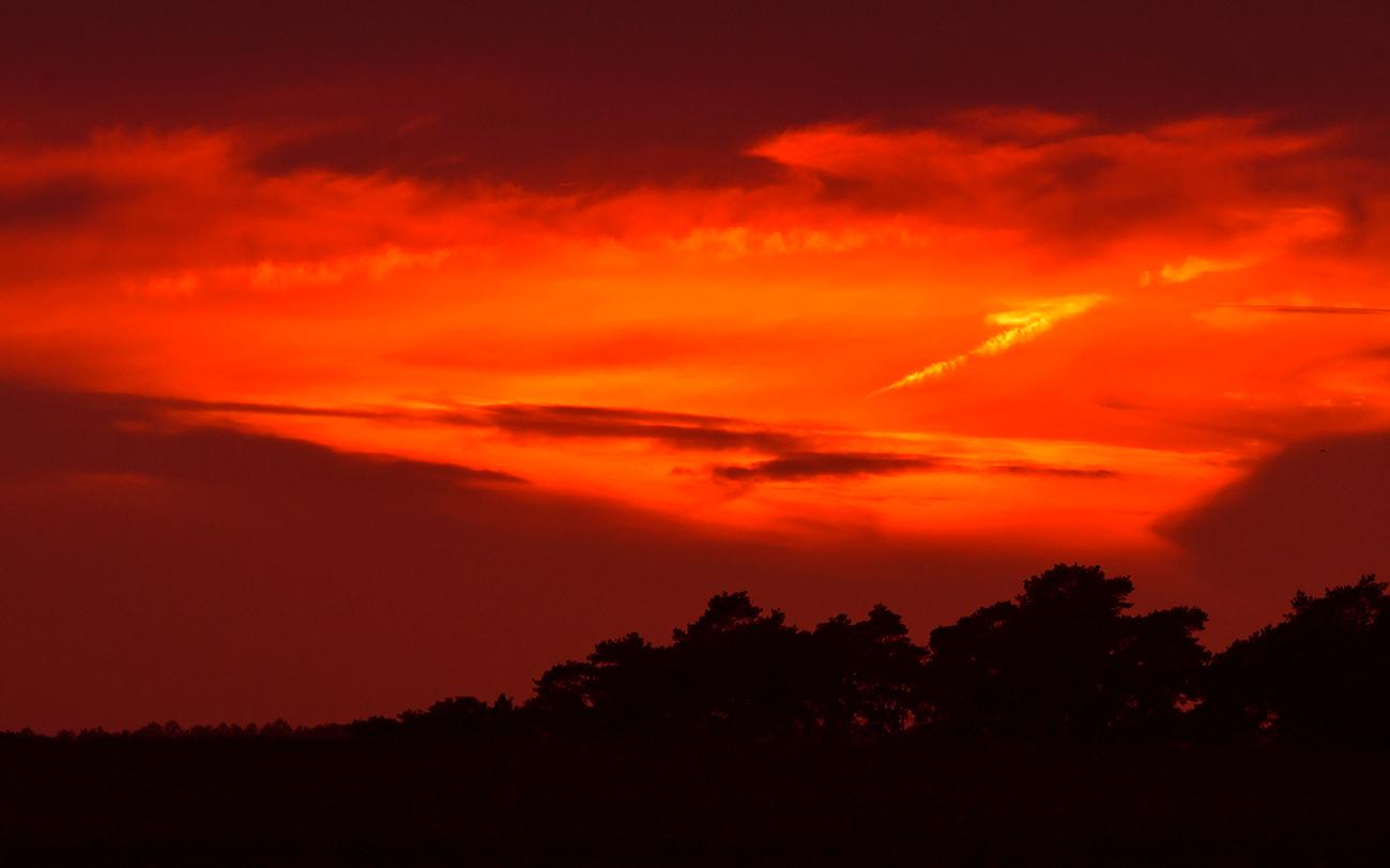 En... als afsluiter nog een schitterend avondrood aan de hemel – Foto: © Louis Fraanje