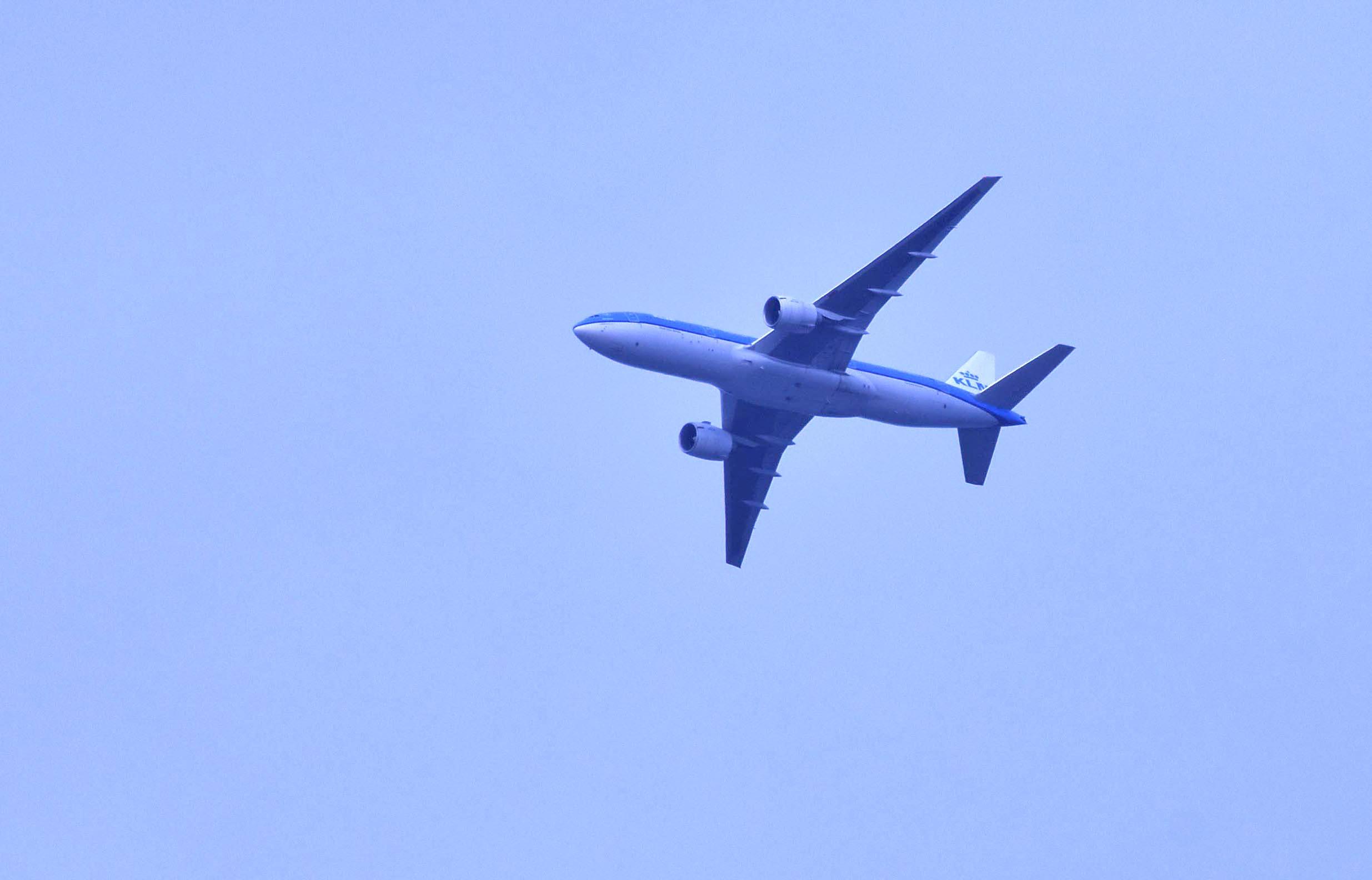Schiphol is natuurlijk niet zo heel ver weg, vandaar de vele vliegtuigen – Foto: ©Louis Fraanje