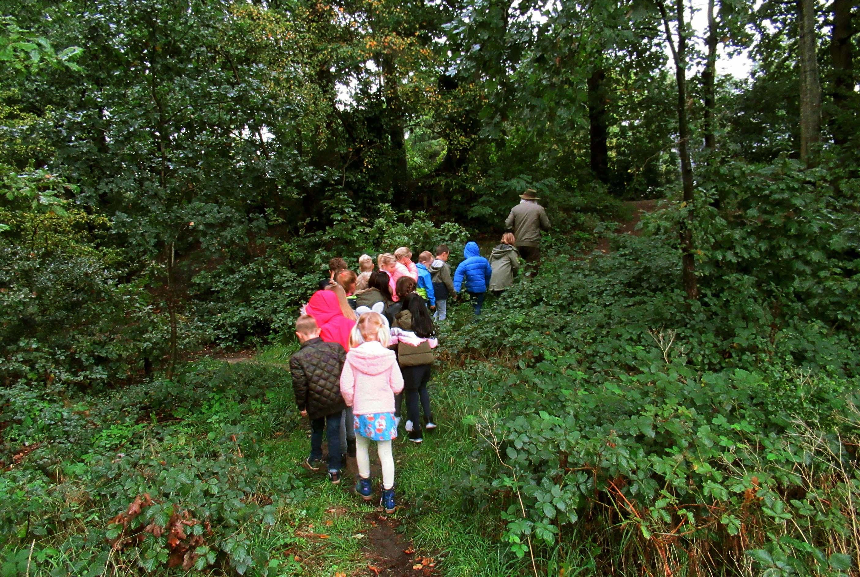 Met de hele klas naar de bosrand in Lunteren om nog meer van de natuur te leren kennen - Foto: ©Jac. Gazenbeekstichting