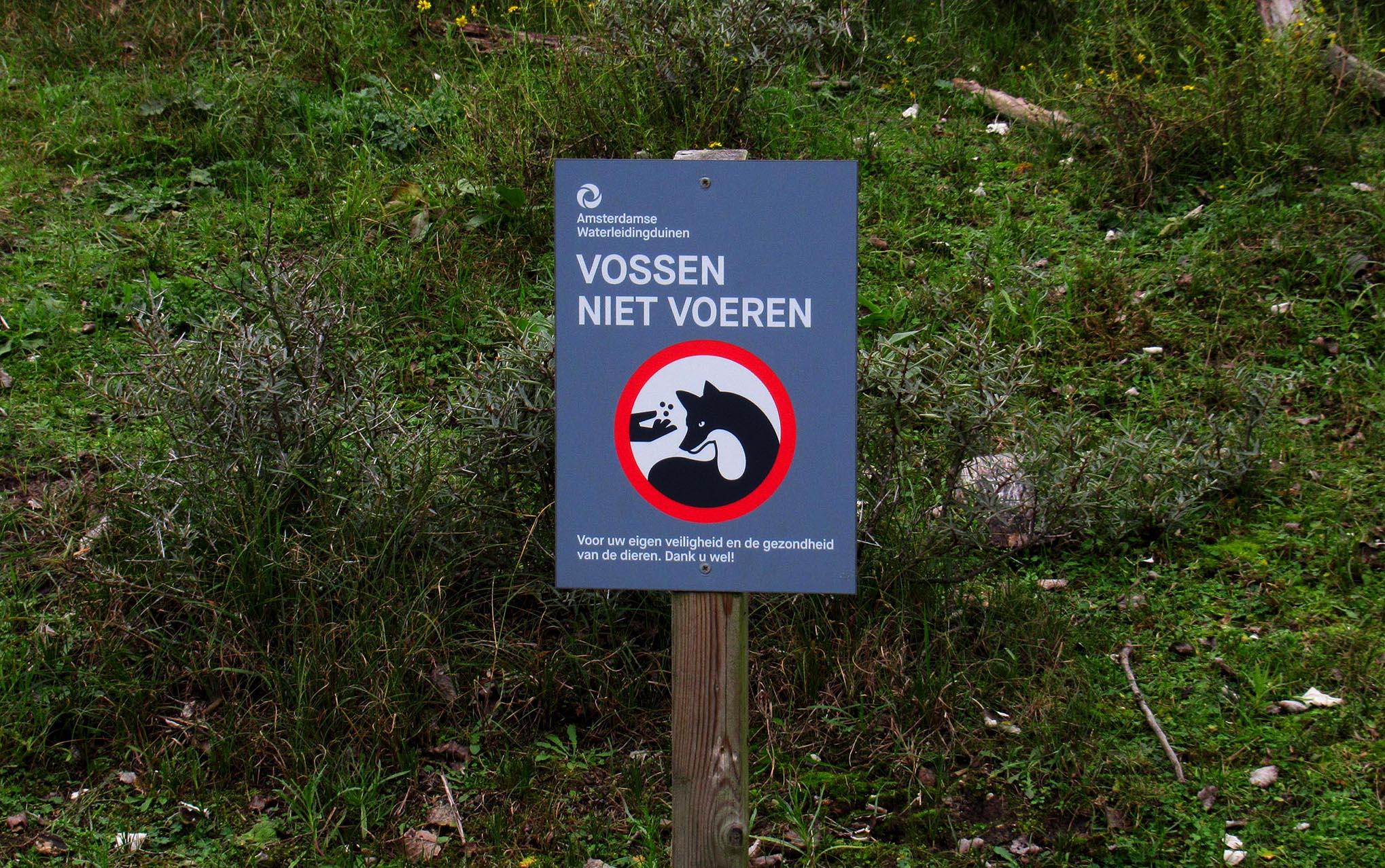 Dit bord laat dus niets aan duidelijkheid te wensen over – Foto: ©Fransien Fraanje