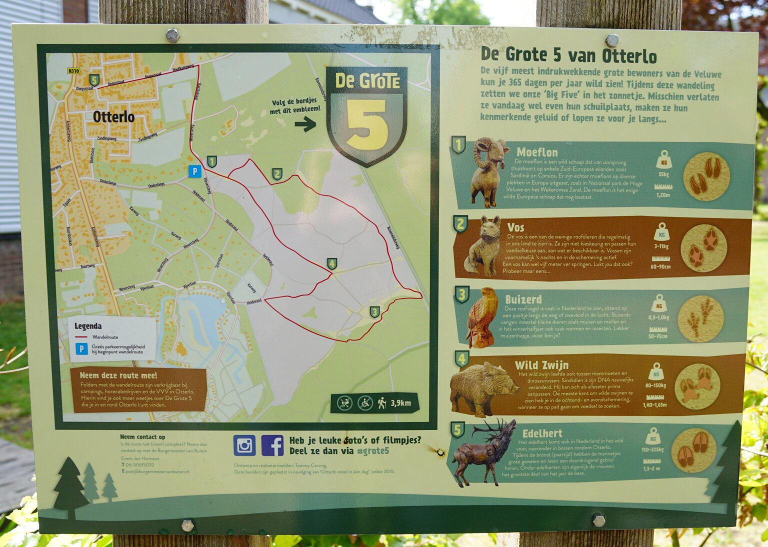 Het informatie bord in Otterlo - Foto: ©Ondernemend Otterlo