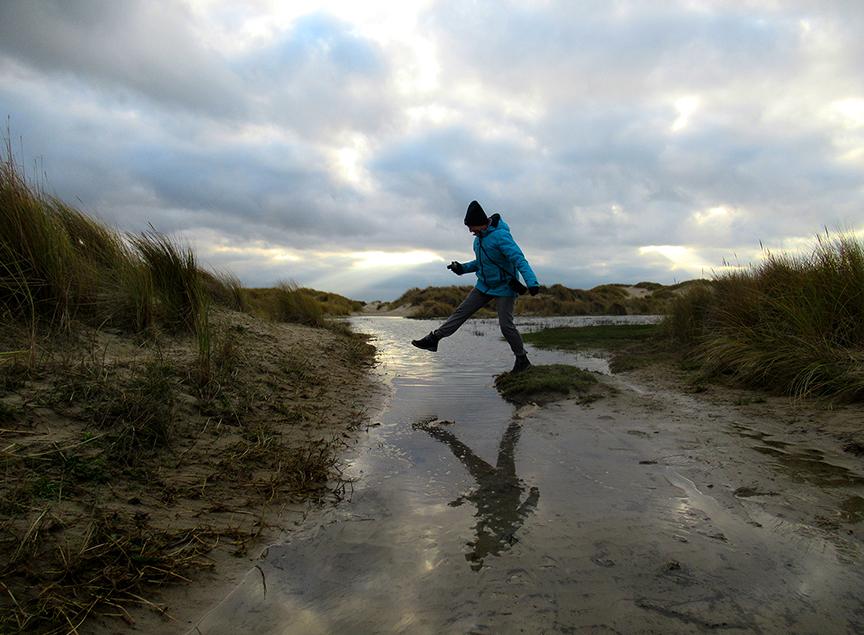 Het is wel belangrijk om droge voeten te houden – Foto: ©Louis Fraanje