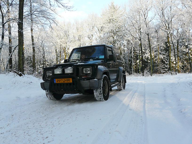 Na een mooie rit door het winterse bos zijn we op onze bestemming – Foto: ©Louis Fraanje