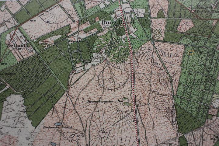 Een deel van het Deelense Veld anno 1906 – Foto van uitsnede topografische kaart: Yvonne Arentzen]