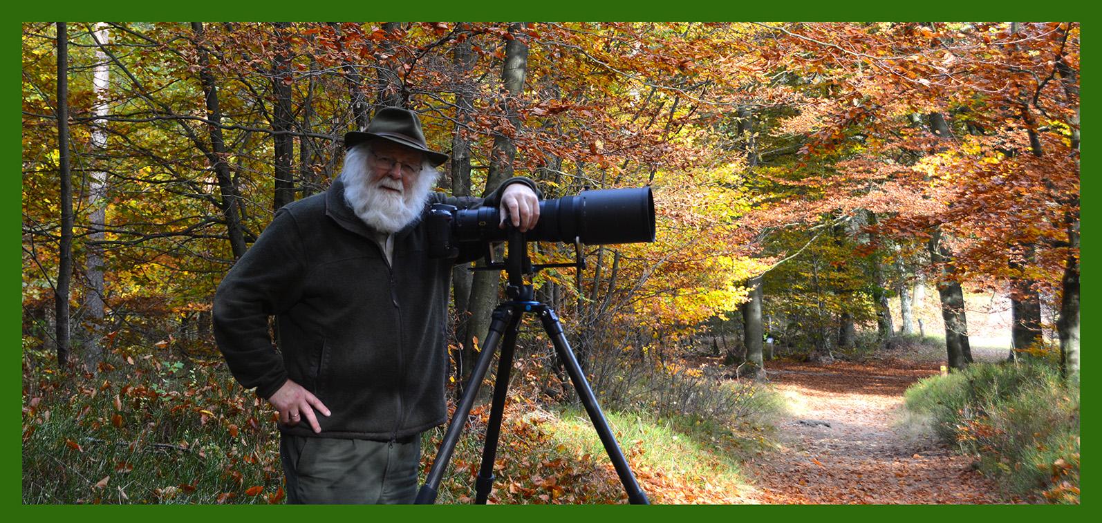Natuurliefhebber- en fotograaf Louis Fraanje - Foto: ©Fransien Fraanje