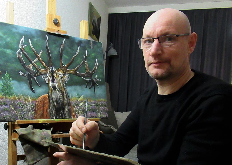 Portret Natuurschilder Willem Souverijn - Copyright Louis Fraanje