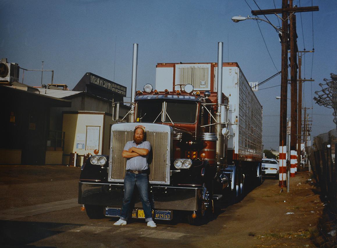 Louis Fraanje als trucker voor een Peterbilt in Amerika - Foto: ©Eigen archieffoto