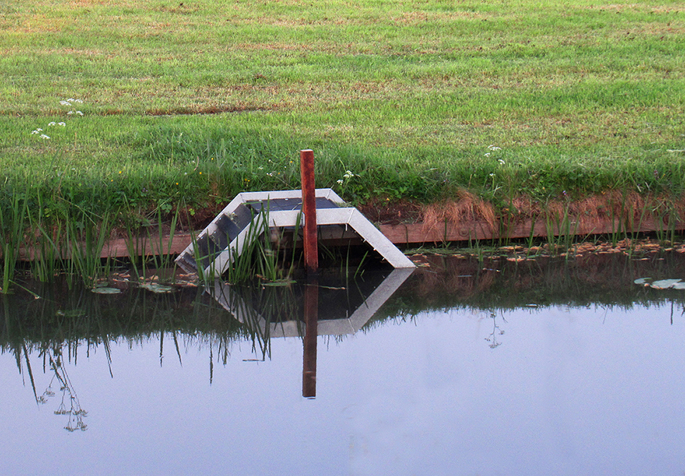 Hopelijk helpen de opstapjes, om het reewild van de verdrinkingsdood te redden - Foto's: ©Fransien Fraanje