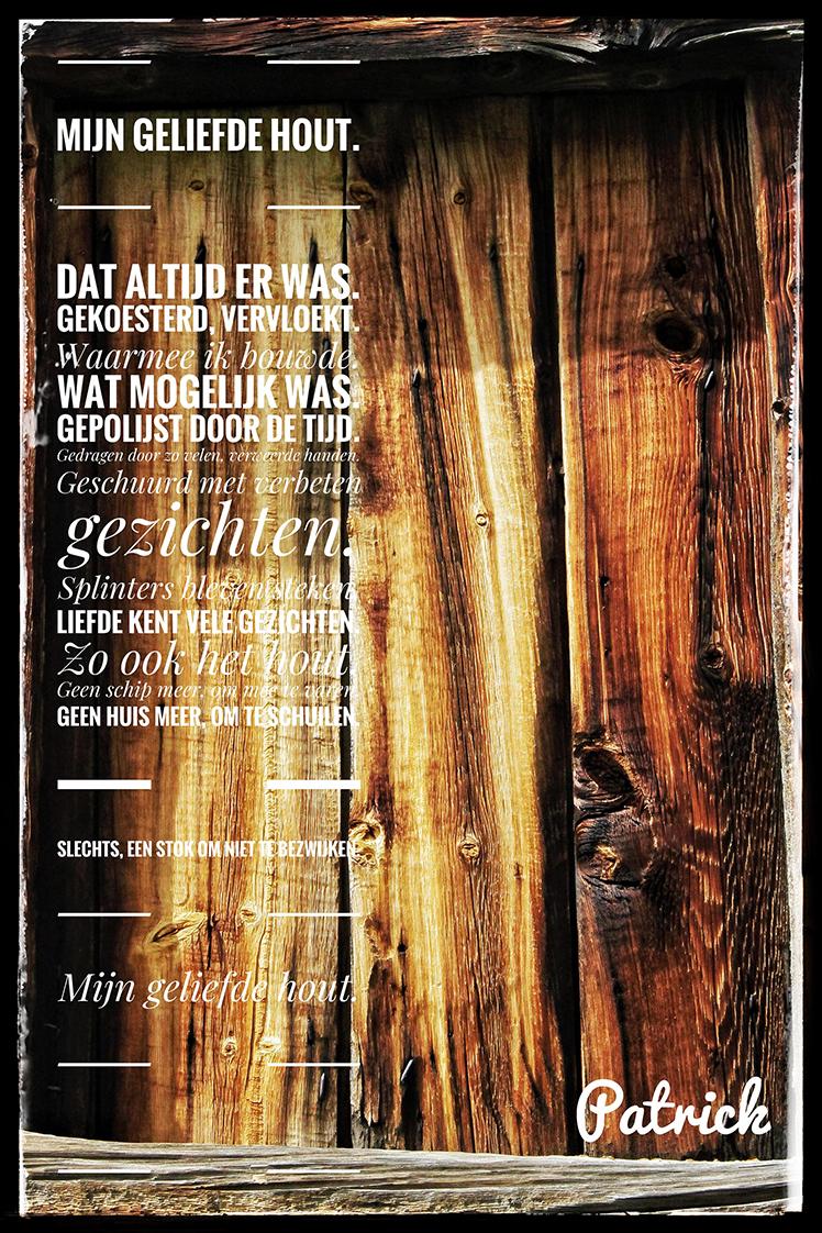 Mijn geliefd hout – Tekst en foto: ©Patrick Bervoets