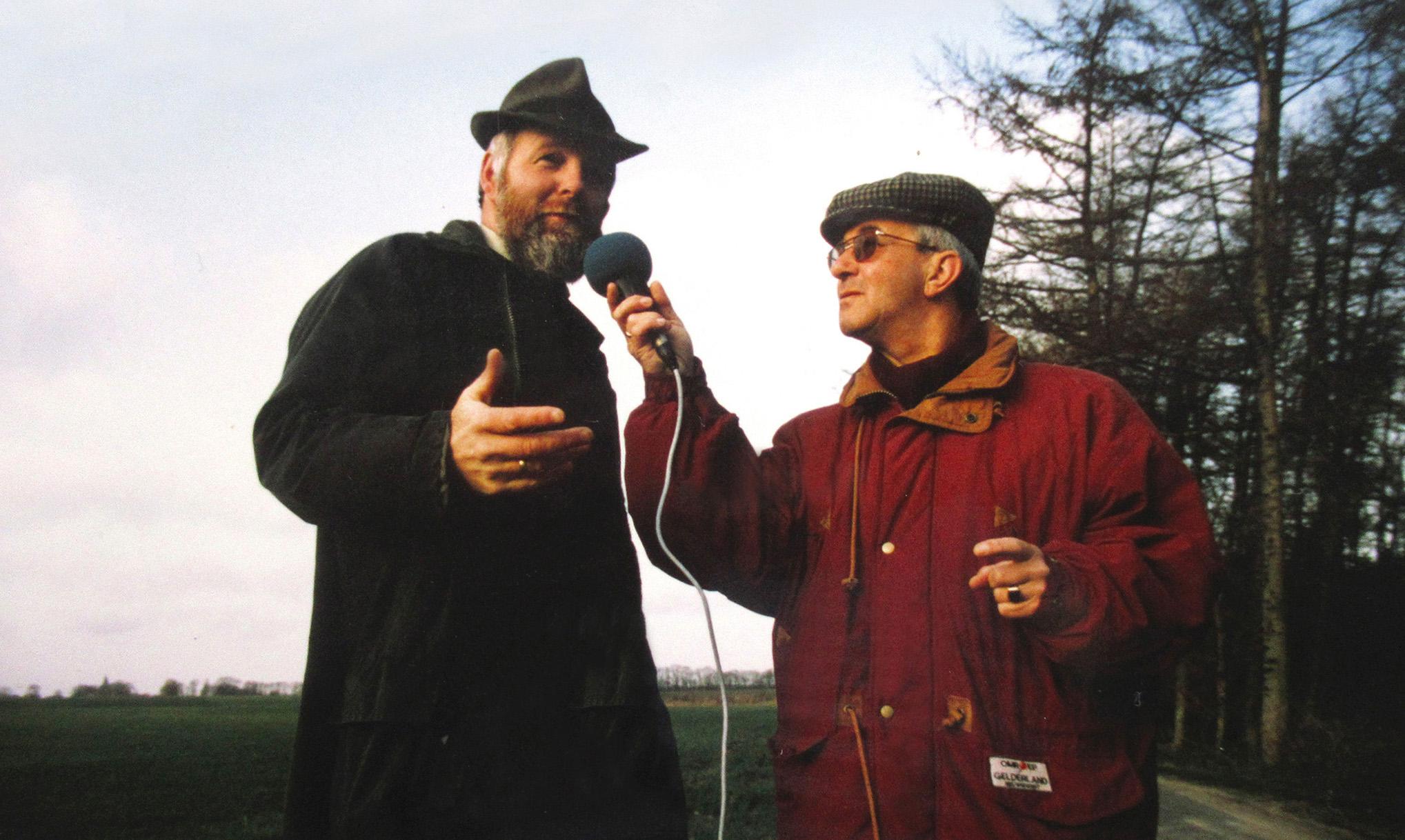 Radio-opname voor Omroep Gelderland ergens op de Veluwe - Foto: Archief Louis Fraanje