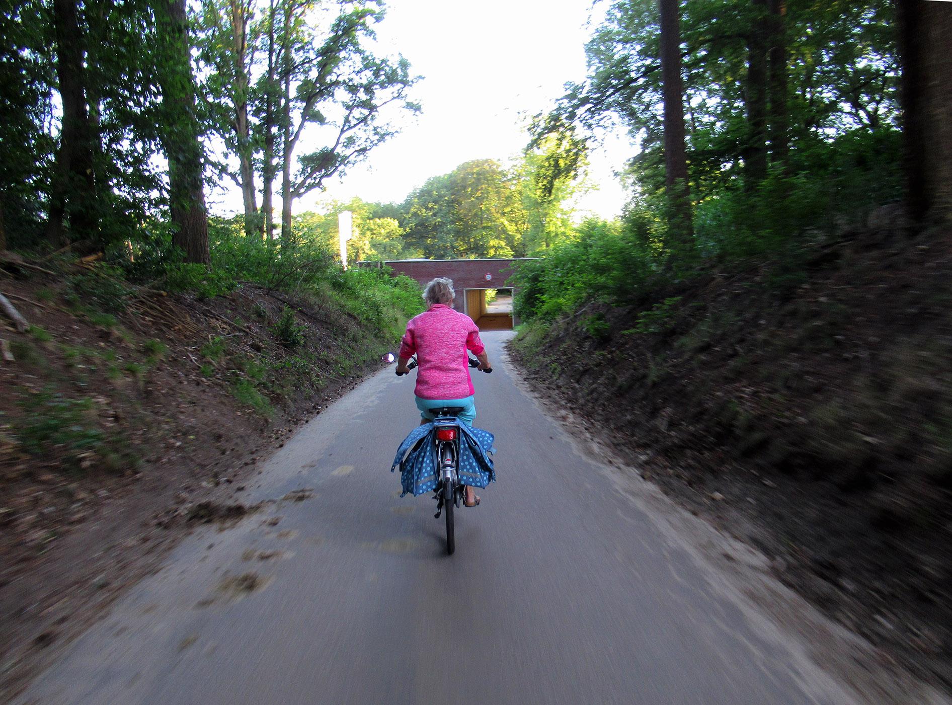 Onder de snelweg A12 door de fietstunnel richting de Buunderkamp - Foto: ©Louis Fraanje